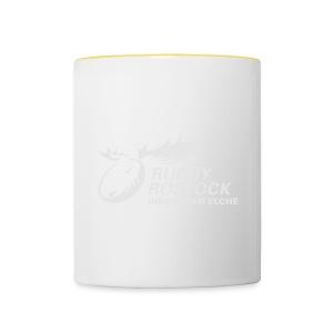 Panorama-Tasse mit rundum Design - Elche Logo - Tasse zweifarbig