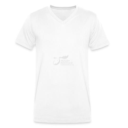 Panorama-Tasse mit rundum Design - Elche Logo - Männer Bio-T-Shirt mit V-Ausschnitt von Stanley & Stella