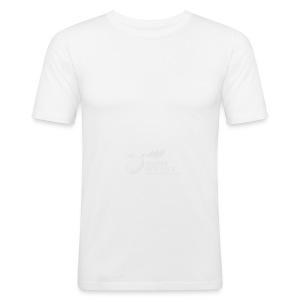 Panorama-Tasse mit rundum Design - Elche Logo - Männer Slim Fit T-Shirt