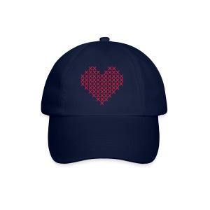 Hjerte hvit - Baseballcap