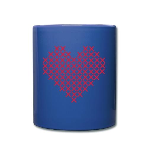 Hjerte hvit - Ensfarget kopp