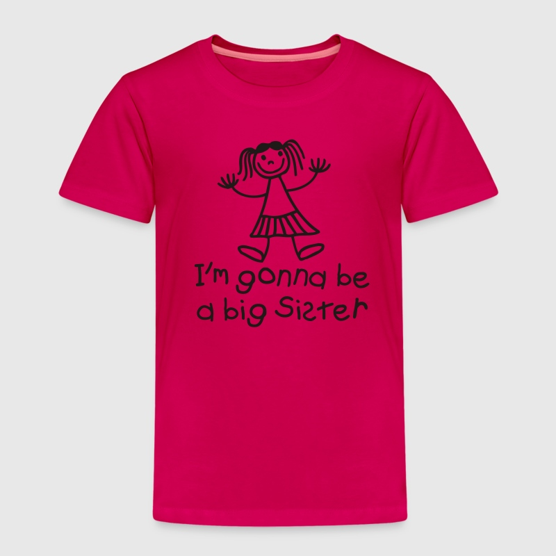 I'm gonna be a big sister Skjorter - Premium T-skjorte for barn