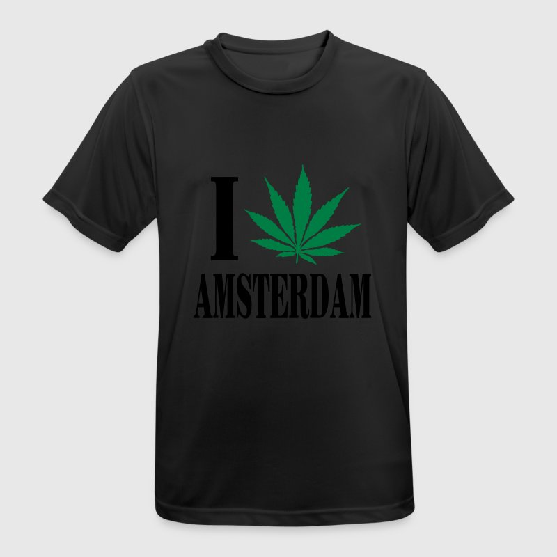 I love amsterdam T-Shirts - Men's Breathable T-Shirt