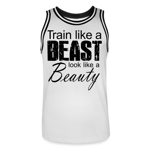 Train Like A Beast Look Like A Beauty - Männer Basketball-Trikot