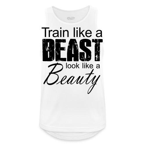 Train Like A Beast Look Like A Beauty - Männer Tank Top atmungsaktiv