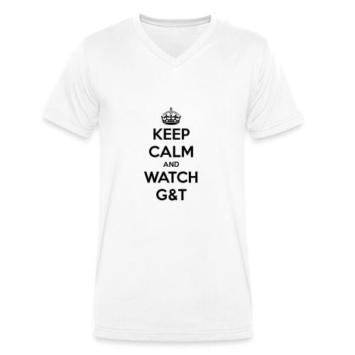 Tazza Keep Calm - T-shirt ecologica da uomo con scollo a V di Stanley & Stella