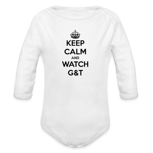 Tazza Keep Calm - Body ecologico per neonato a manica lunga