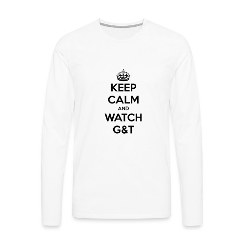 Tazza Keep Calm - Maglietta Premium a manica lunga da uomo