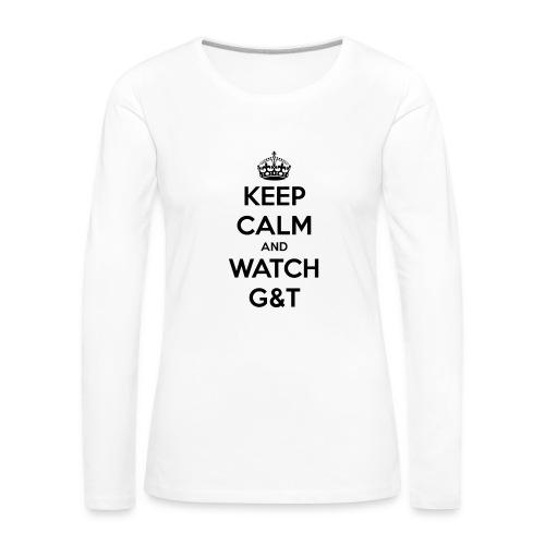 Tazza Keep Calm - Maglietta Premium a manica lunga da donna