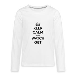 Tazza Keep Calm - Maglietta Premium a manica lunga per teenager