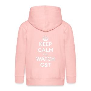 Maglietta donna Keep Calm - Felpa con zip Premium per bambini