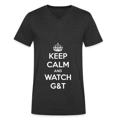 Maglietta donna Keep Calm - T-shirt ecologica da uomo con scollo a V di Stanley & Stella