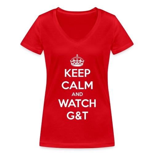 Maglietta donna Keep Calm - T-shirt ecologica da donna con scollo a V di Stanley & Stella