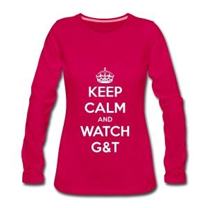 Maglietta donna Keep Calm - Maglietta Premium a manica lunga da donna
