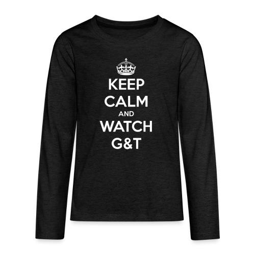 Maglietta donna Keep Calm - Maglietta Premium a manica lunga per teenager