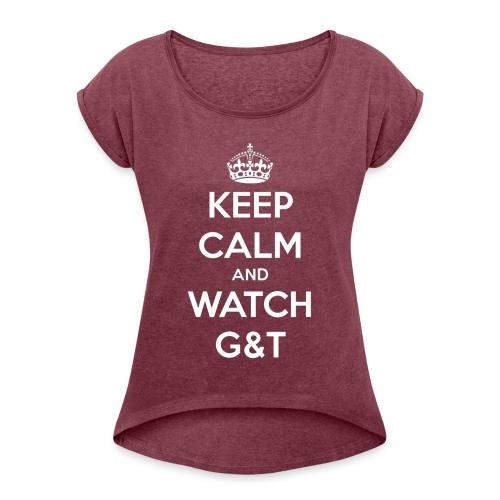 Maglietta donna Keep Calm - Maglietta da donna con risvolti
