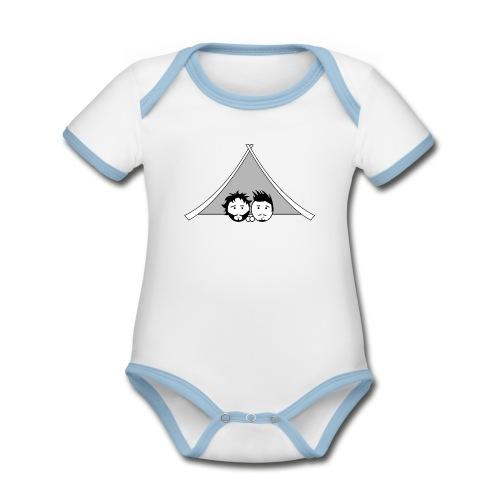 Maglietta uomo G&T tenda - Body da neonato a manica corta, ecologico e in contrasto cromatico