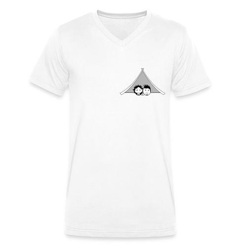 Maglietta uomo G&T tenda - T-shirt ecologica da uomo con scollo a V di Stanley & Stella