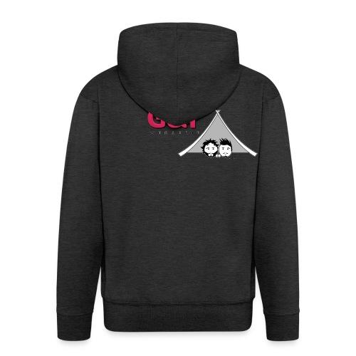 Maglietta uomo G&T tenda - Felpa con zip Premium da uomo
