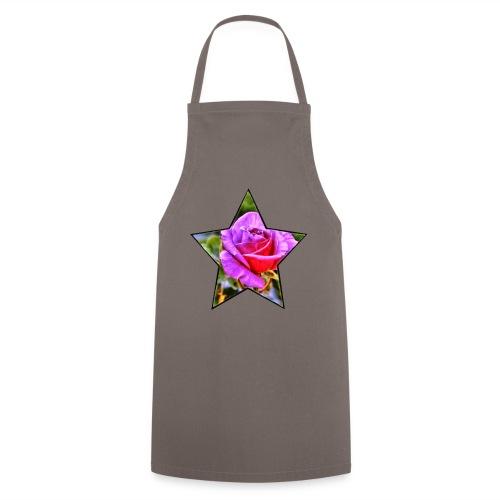Rosen-Stern-Lila - Kochschürze