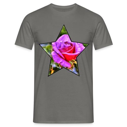 Rosen-Stern-Lila - Männer T-Shirt
