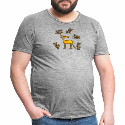 Galgo und Hasen - Männer Vintage T-Shirt