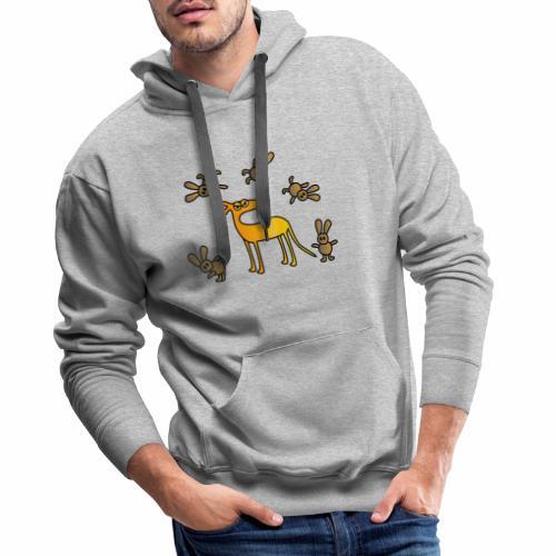 Galgo und Hasen - Männer Premium Hoodie