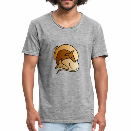 3 Galgos - Männer Vintage T-Shirt