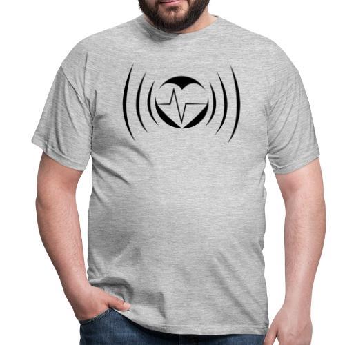 Impuls Herz black - Männer T-Shirt