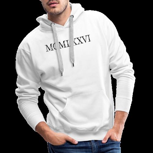 MCMLXXVI 1976 Geburtstag T-Shirt Römisch (Vintage/Schwarz) - Männer Premium Hoodie