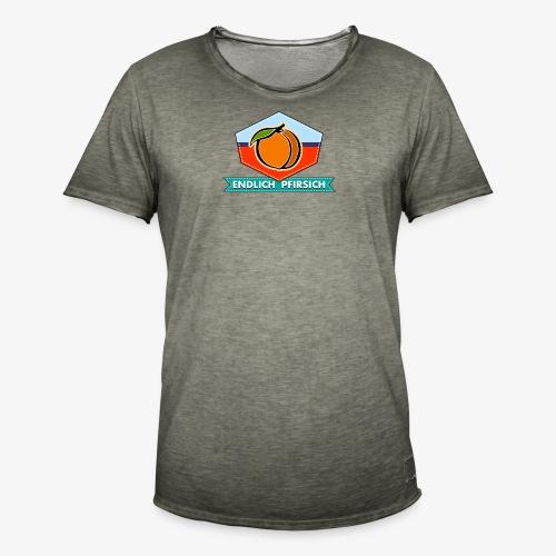Endlich Pfirsich (Vierzig) - Männer Vintage T-Shirt