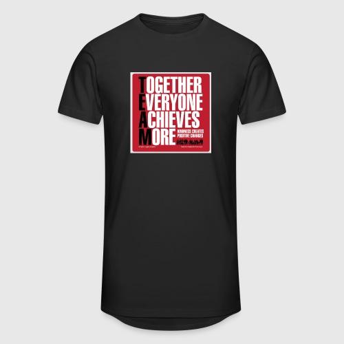 Mens - tshirt - Together everyone achieves more - Herre Urban Longshirt