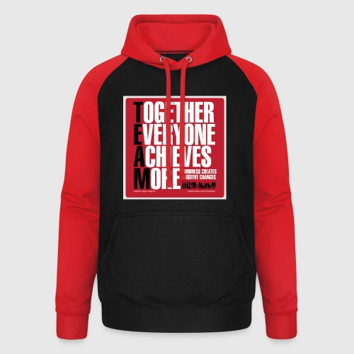 Mens - tshirt - Together everyone achieves more - Unisex baseball hoodie