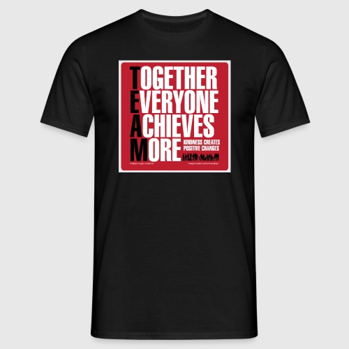 Mens - tshirt - Together everyone achieves more - Herre-T-shirt