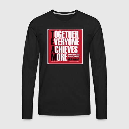 Mens - tshirt - Together everyone achieves more - Herre premium T-shirt med lange ærmer