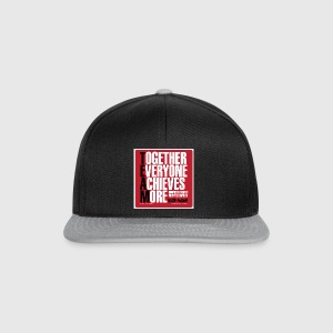 Mens - tshirt - Together everyone achieves more - Snapback Cap