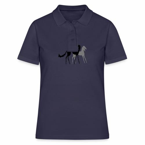 Saluki Holzschnitt - Frauen Polo Shirt