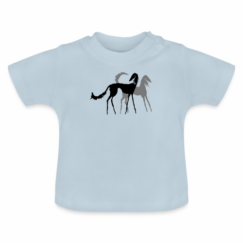Saluki Holzschnitt - Baby T-Shirt