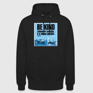Women  - tshirt - Be kind - Hættetrøje unisex