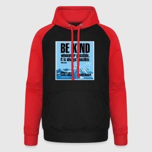 Women  - tshirt - Be kind - Unisex baseball hoodie