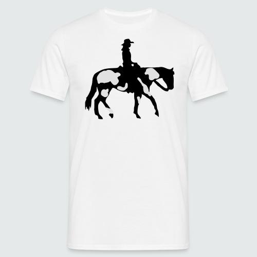 Motiv-196-Schwarz-Silber-metallic - Männer T-Shirt