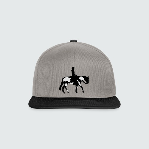 Motiv-196-Schwarz-Silber-metallic - Snapback Cap