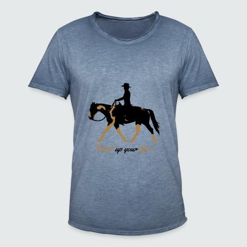Motiv-195-Schwarz-Light-brown - Männer Vintage T-Shirt