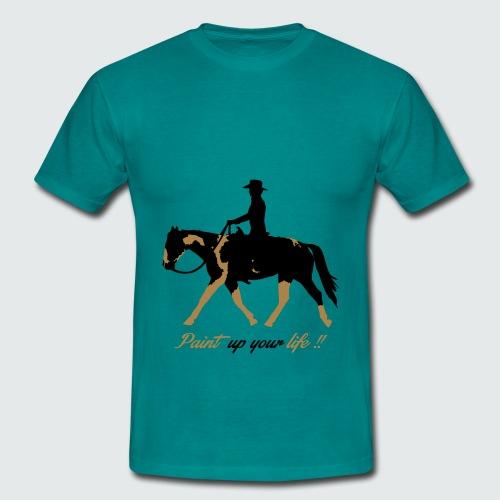 Motiv-195-Schwarz-Light-brown - Männer T-Shirt