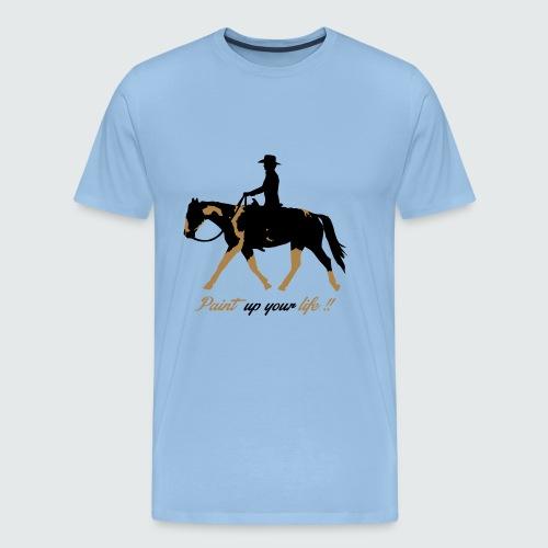 Motiv-195-Schwarz-Light-brown - Männer Premium T-Shirt