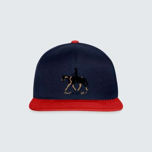 Motiv-195-Schwarz-Light-brown - Snapback Cap