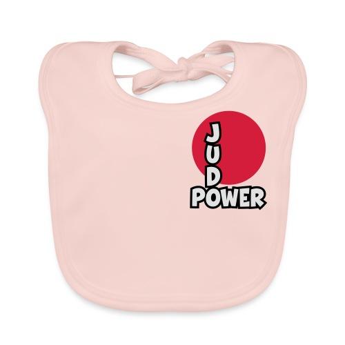 Judo-Power Logo Pur - Baby Bio-Lätzchen