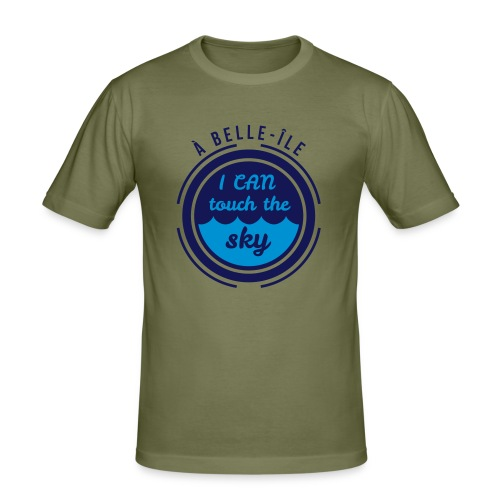 A Belle-Ile I can Fly - Jaune Velours - T-shirt près du corps Homme