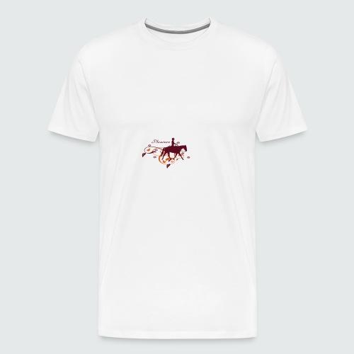 Motiv-194-Schwarz-Magenta - Männer Premium T-Shirt