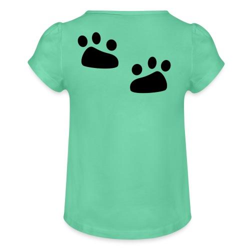 Tierspuren, Natur, Wildnis Pullover & Hoodies - Mädchen-T-Shirt mit Raffungen